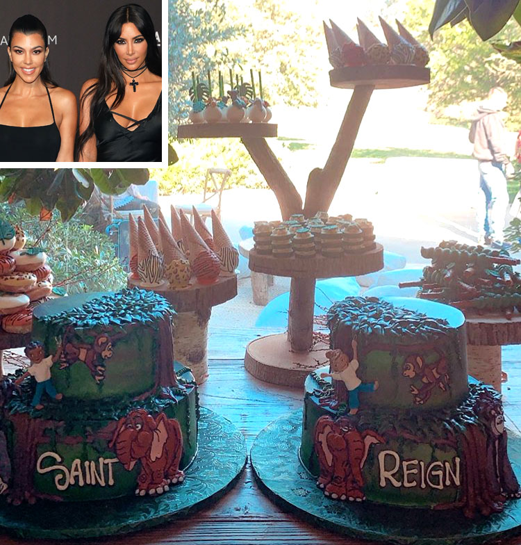 Saint and Reign's Tarzan-Themed Party