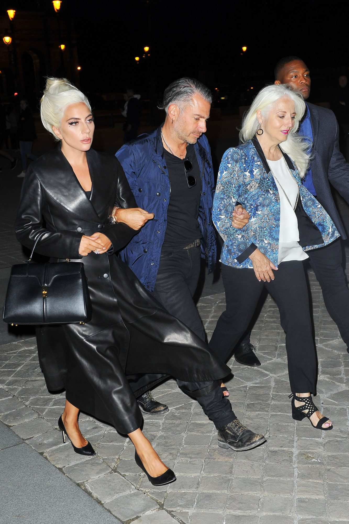 Lady Gaga, Christian Carino and her Mother Cynthia Germanotta Visit The Louvre