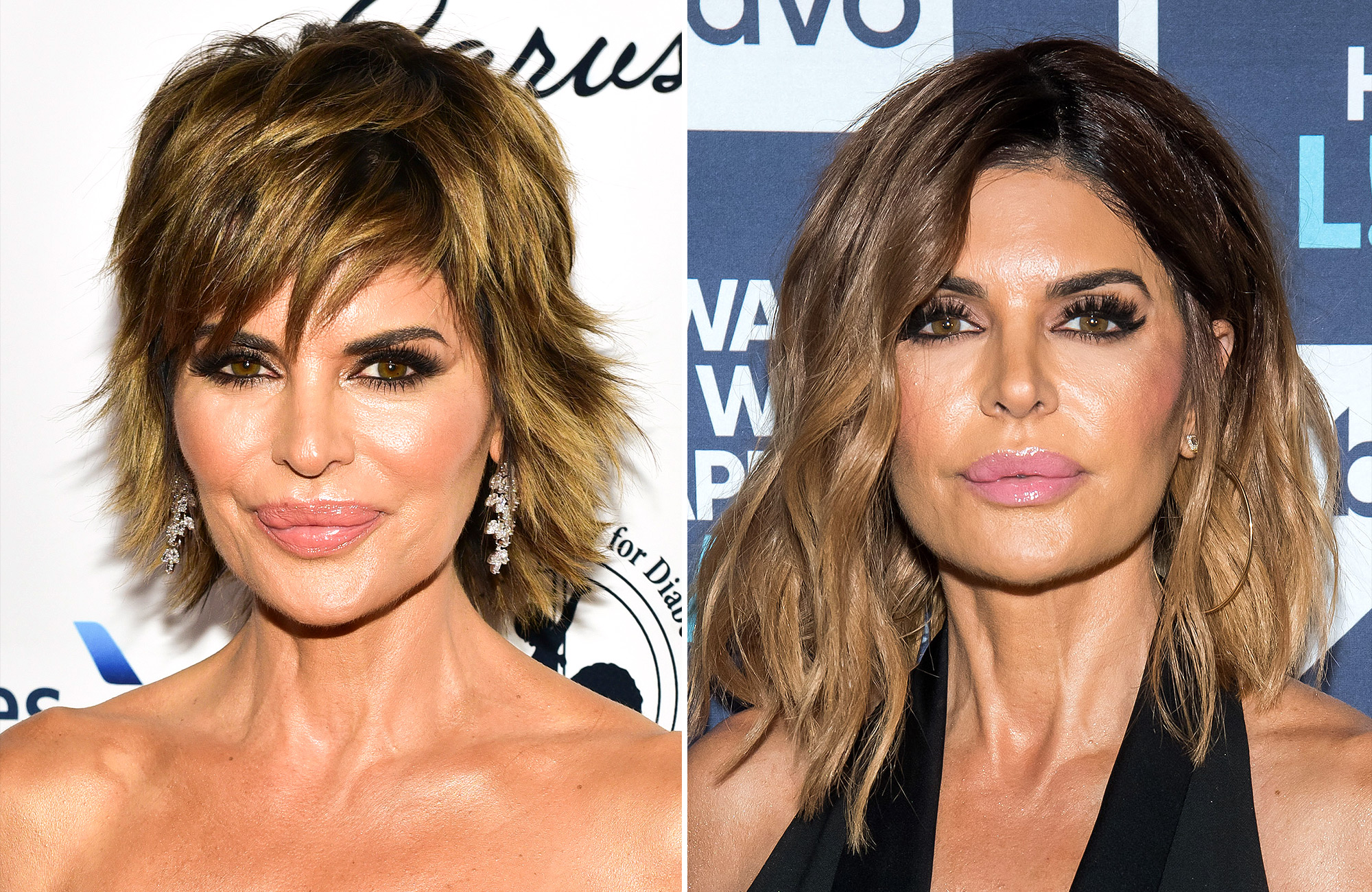 Lisa Rinna Looks Unrecognizable With Long Wavy Hair People Com