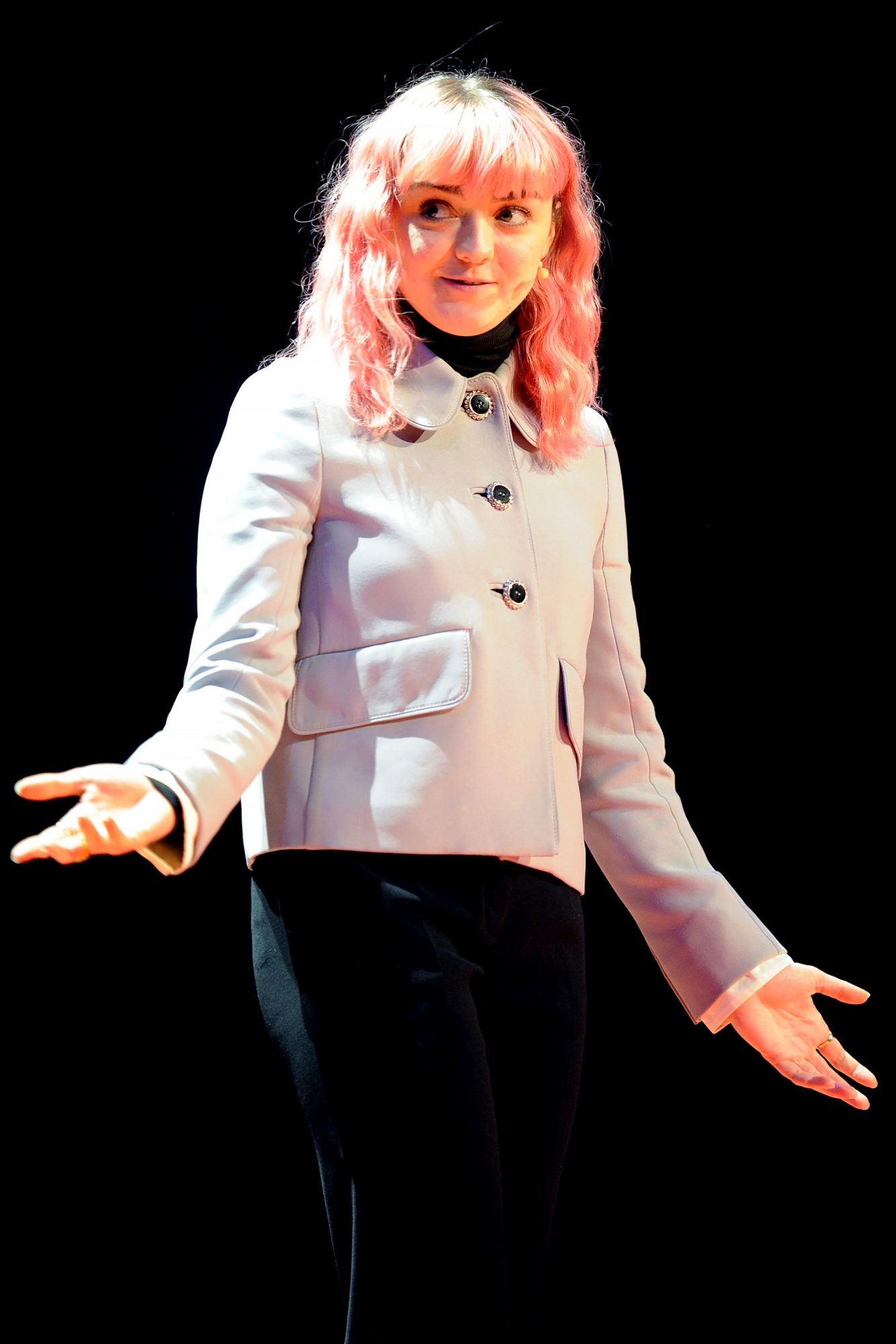 Maisie Williams Gives TED Talk In Manchester