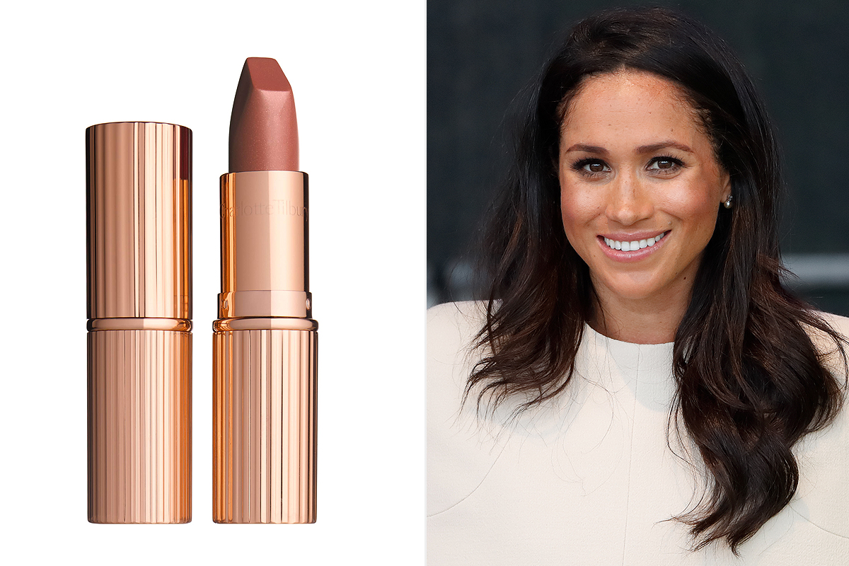 Meghan Markle and taupe Charlotte Tilbury matte lipstick from Nordstrom