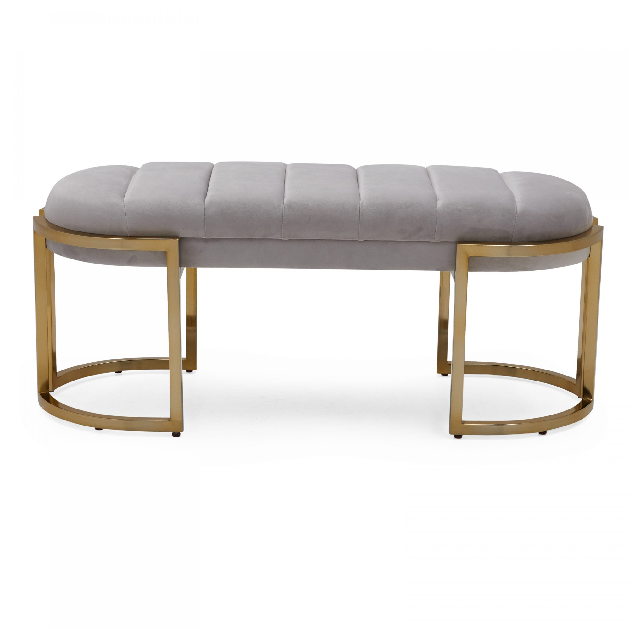 Walmart New Home Collection: MoDRN Glam Marni Channel Tufted Bench