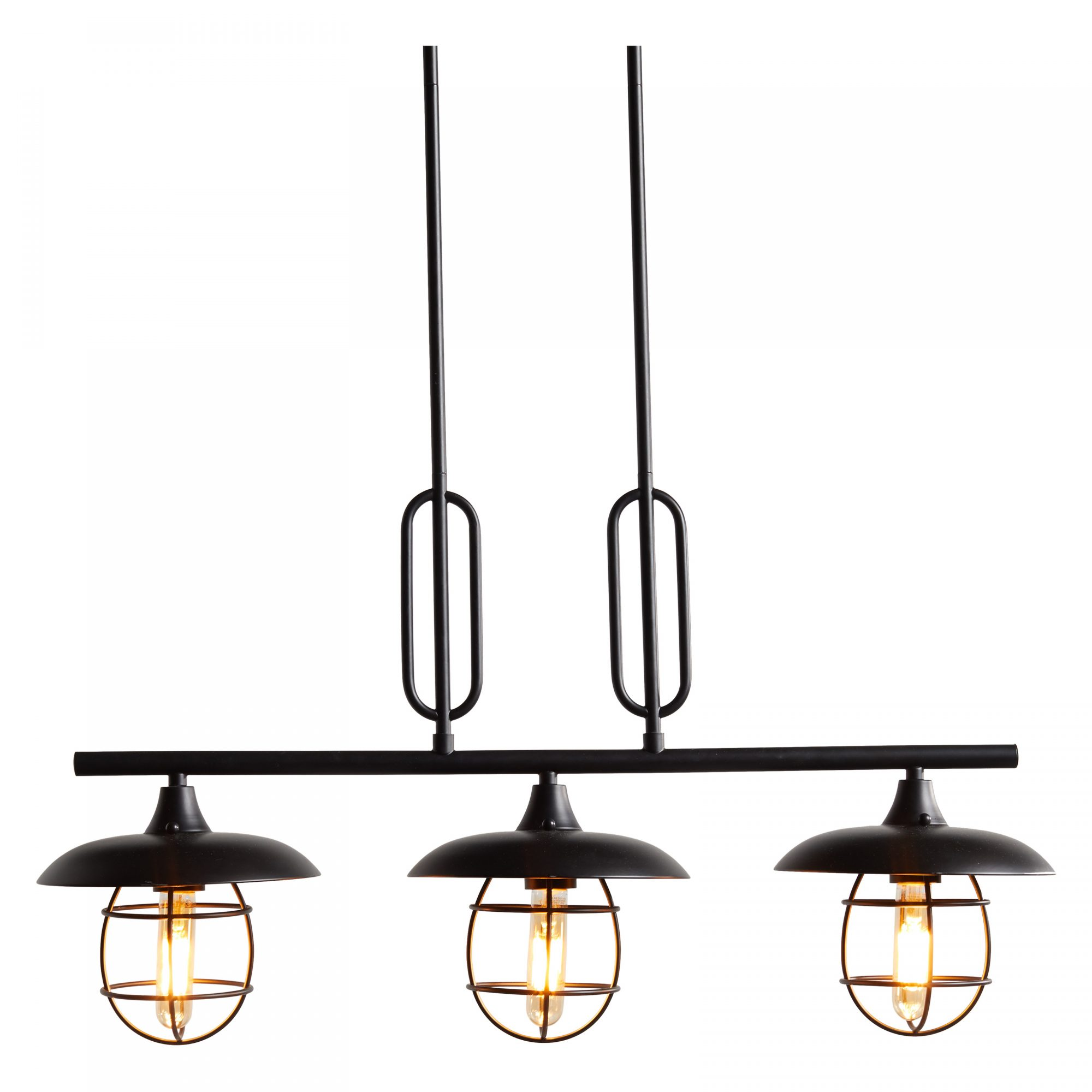 Walmart New Home Collection: MoDRN Industrial Metal Wire 3 Light Island Pendant Black Finish