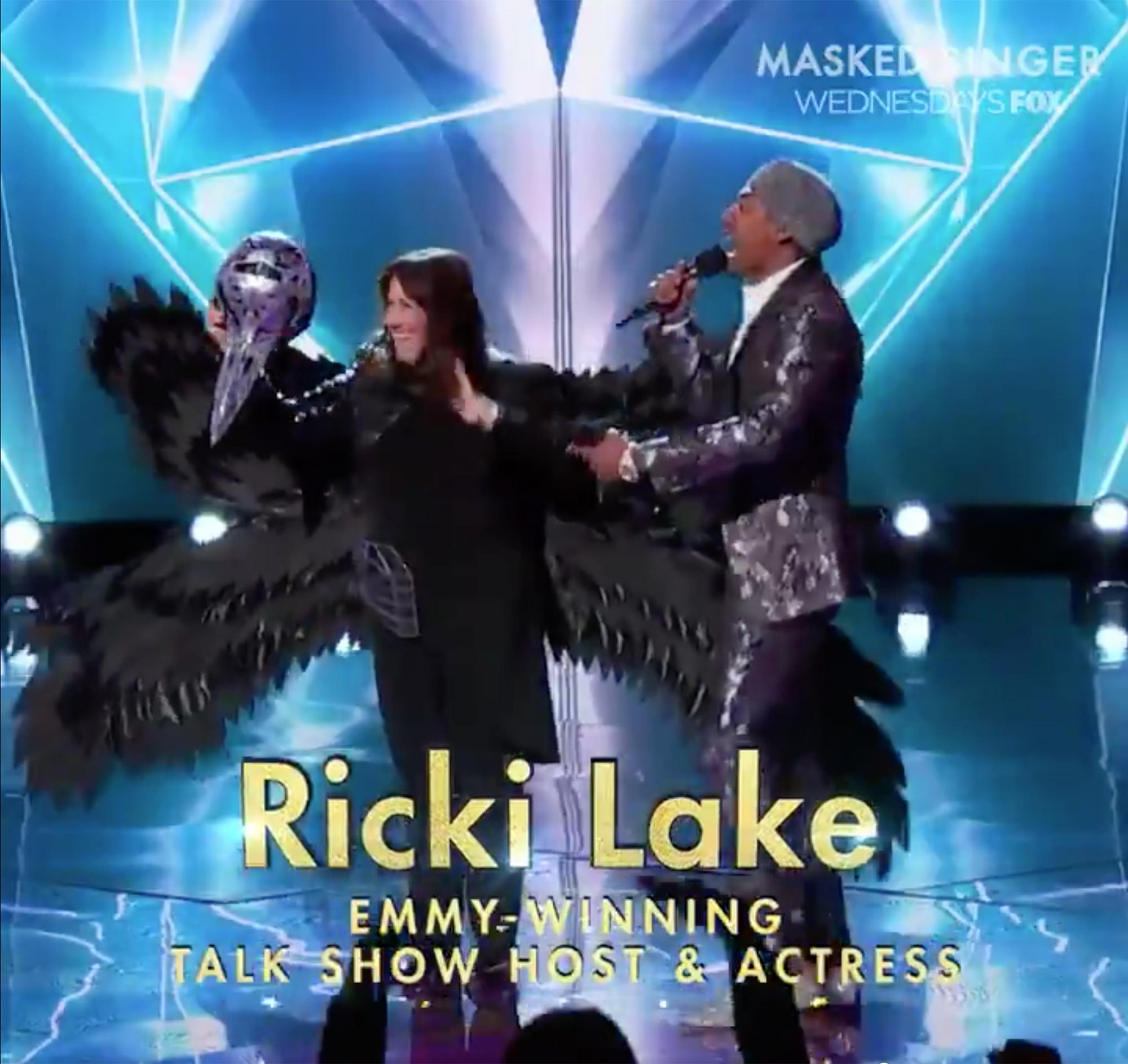 Ricki Lake Raven Masked SingerCredit: Fox