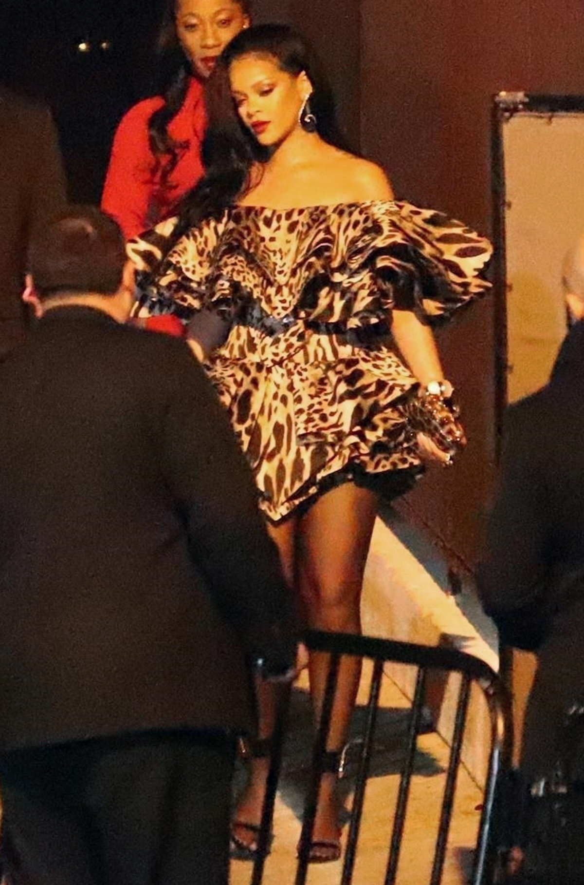 *EXCLUSIVE* Rihanna attends Jay Z and Beyonce's party at Chateau Marmont in West Hollywood