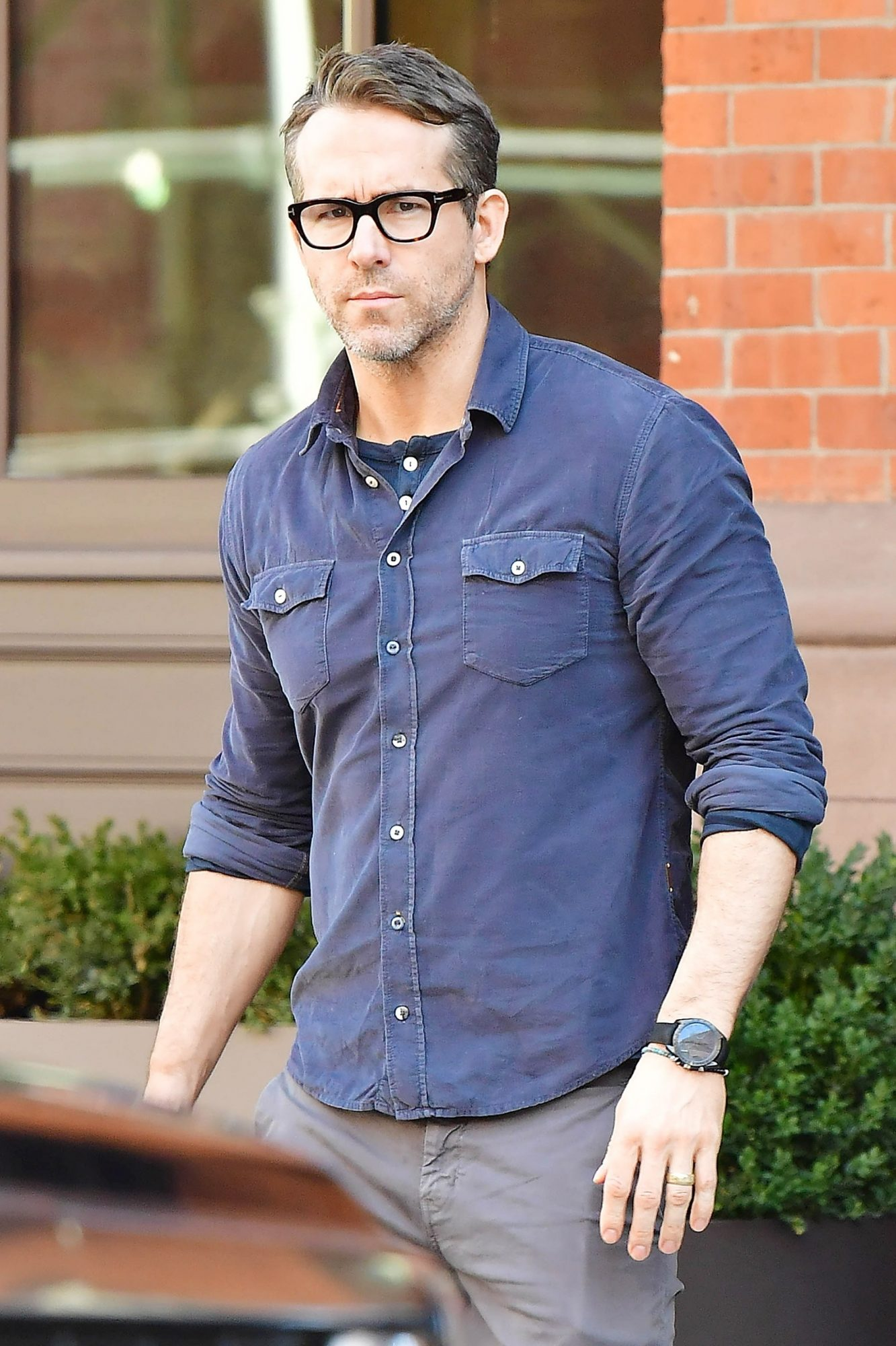 Ryan Reynolds going to a business meeting in NYC
