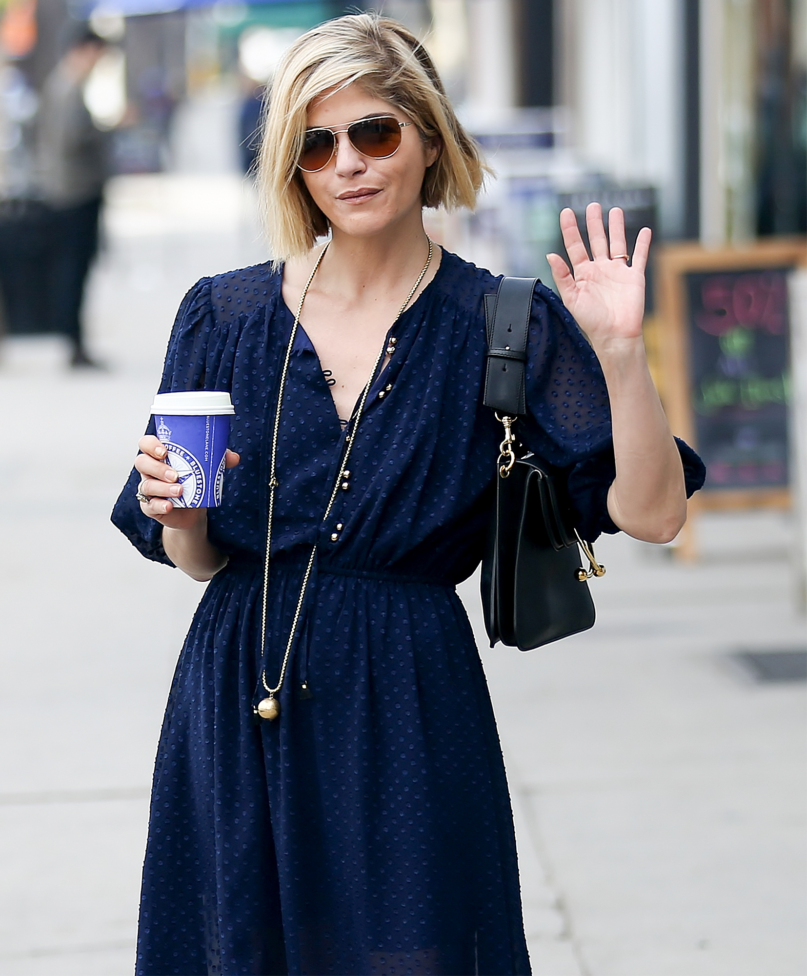 EXCLUSIVE: Selma Blair Gets Her Morning Coffee In Los Angeles