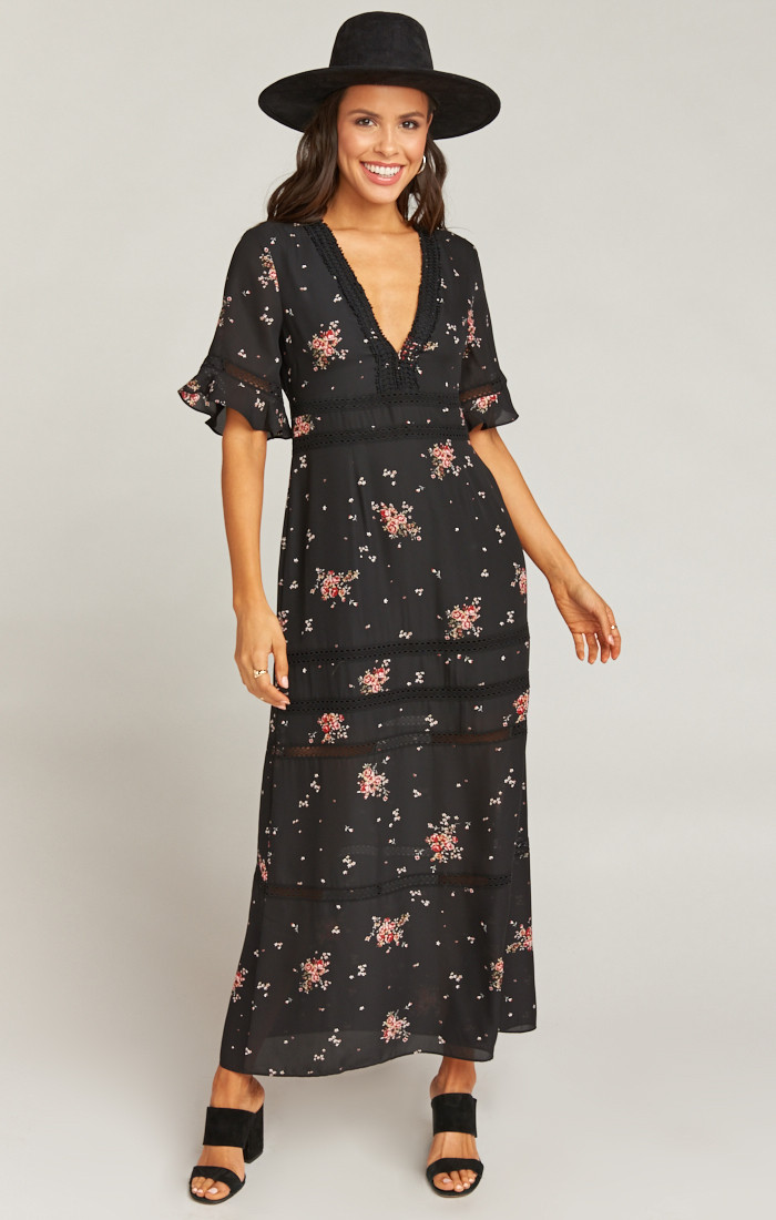 Tabitha Maxi Dress in Dancing Floral at Show Me Your Mumu