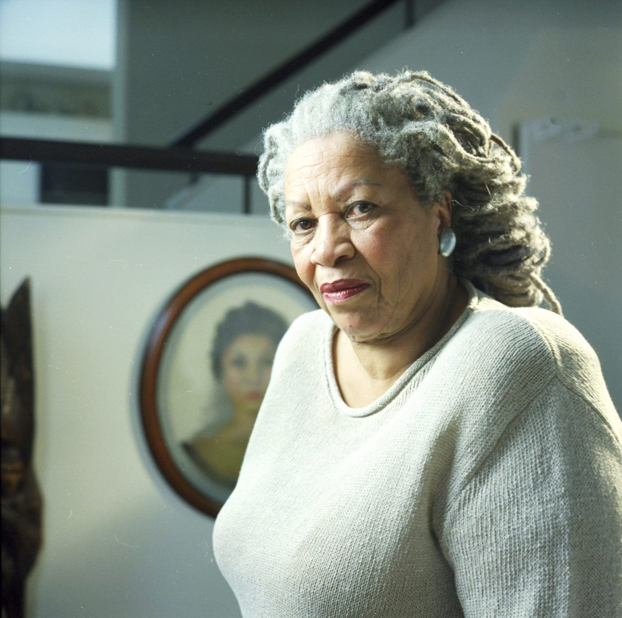 Toni Morrison Poses In Manhattan Apartment