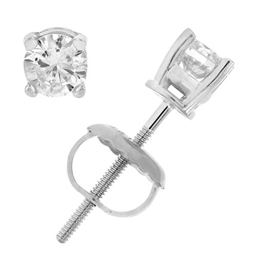 Vir Jewels ⅓ ctw Certified Diamond Stud Earrings 14K White or Yellow Gold with Screw Back on Amazon