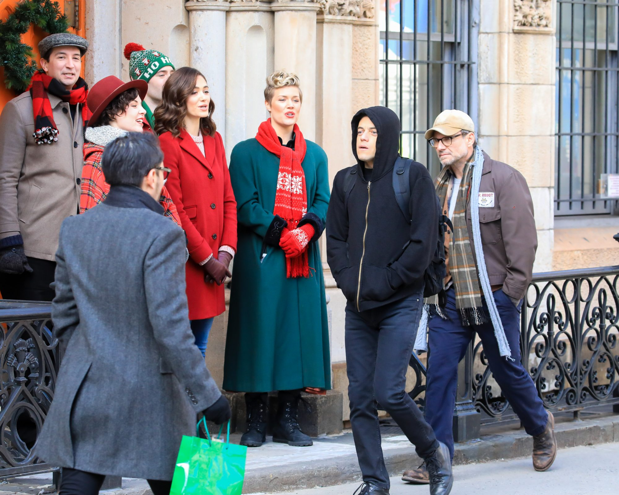 Cast Seen Filming Mr Robot Directed by Sam Esmail In NYC