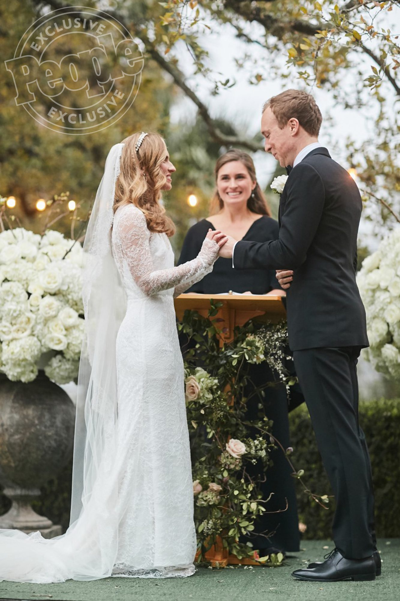 """The latest member of the family to tie the knot, Ashley - daughter of Neil and Sharon Bush, granddaughter of George H.W. and Barbara Bush - said """"I do"""" to LeFevre on March 2, 2019, at the iconic Laguna Gloria in Austin, Texas.                             The couple kicked off the weekend with a rehearsal dinner at Mattie's Green Pastures, followed by a game of """"bubble soccer"""" at a local park the next morning. Guests - including cousins Jenna Bush Hager and Barbara Pierce Bush, plus La La Land director Damien Chazelle and socialite Amanda Hearst - took in the nuptials, officiated by Ashley's sister Lauren Bush Lauren, then danced the night away, ending the evening with a silent disco as to obey the venue's noise curfew."""