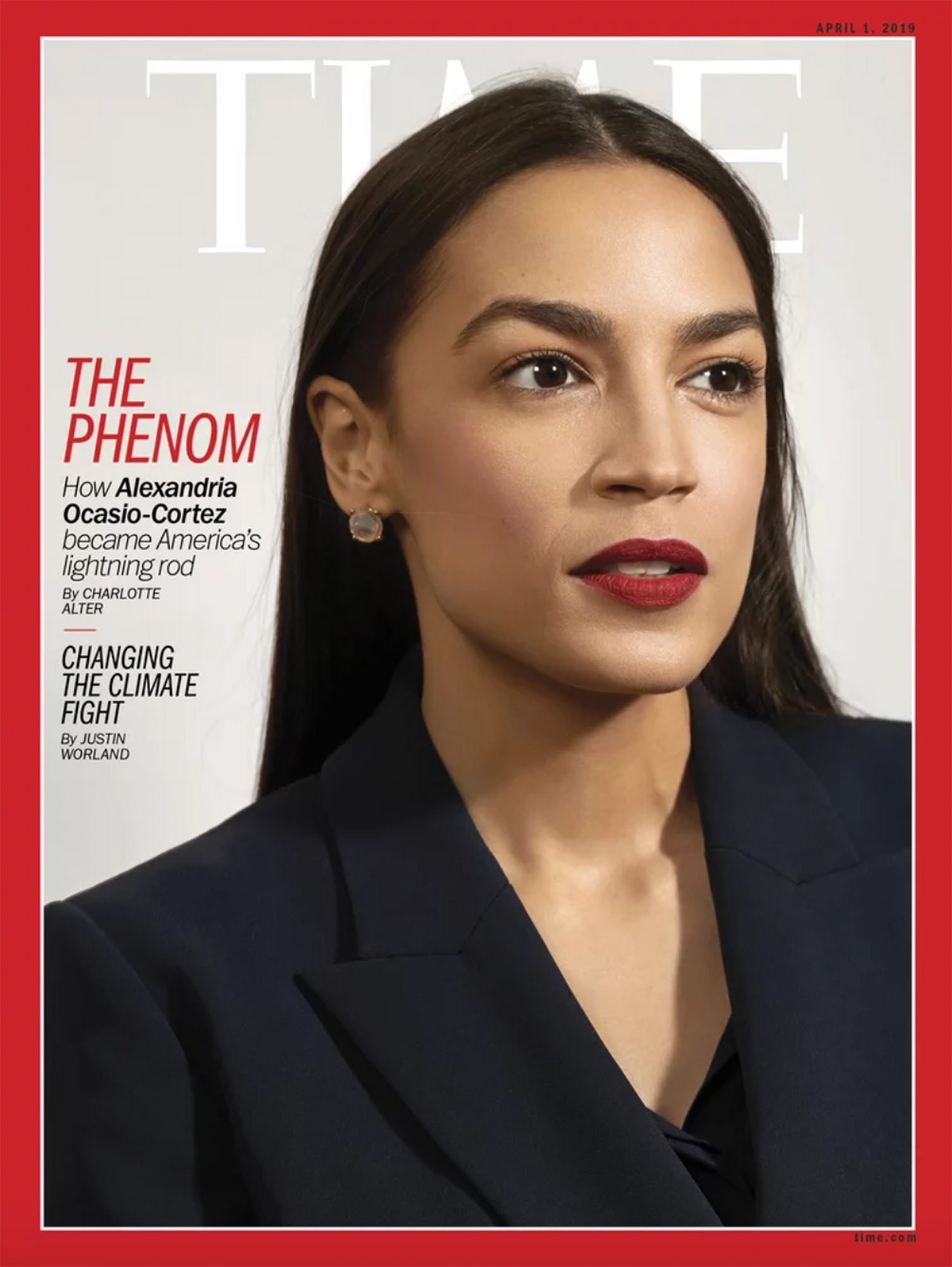Rep. Alexandria Ocasio-Cortez on the cover of TIME magzazine