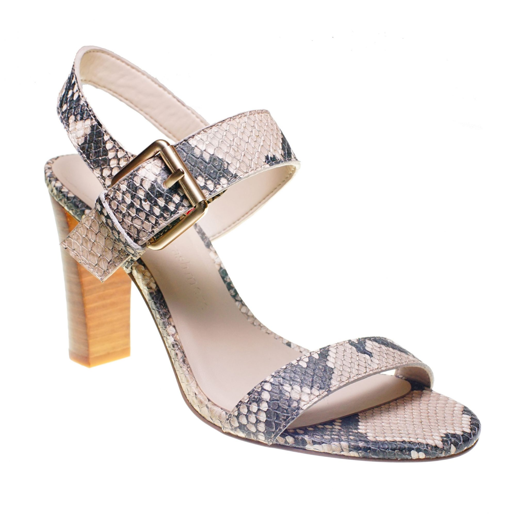 Snake print heeled sandal from Cupcakes and Cashmere shoe collection at Nordstrom