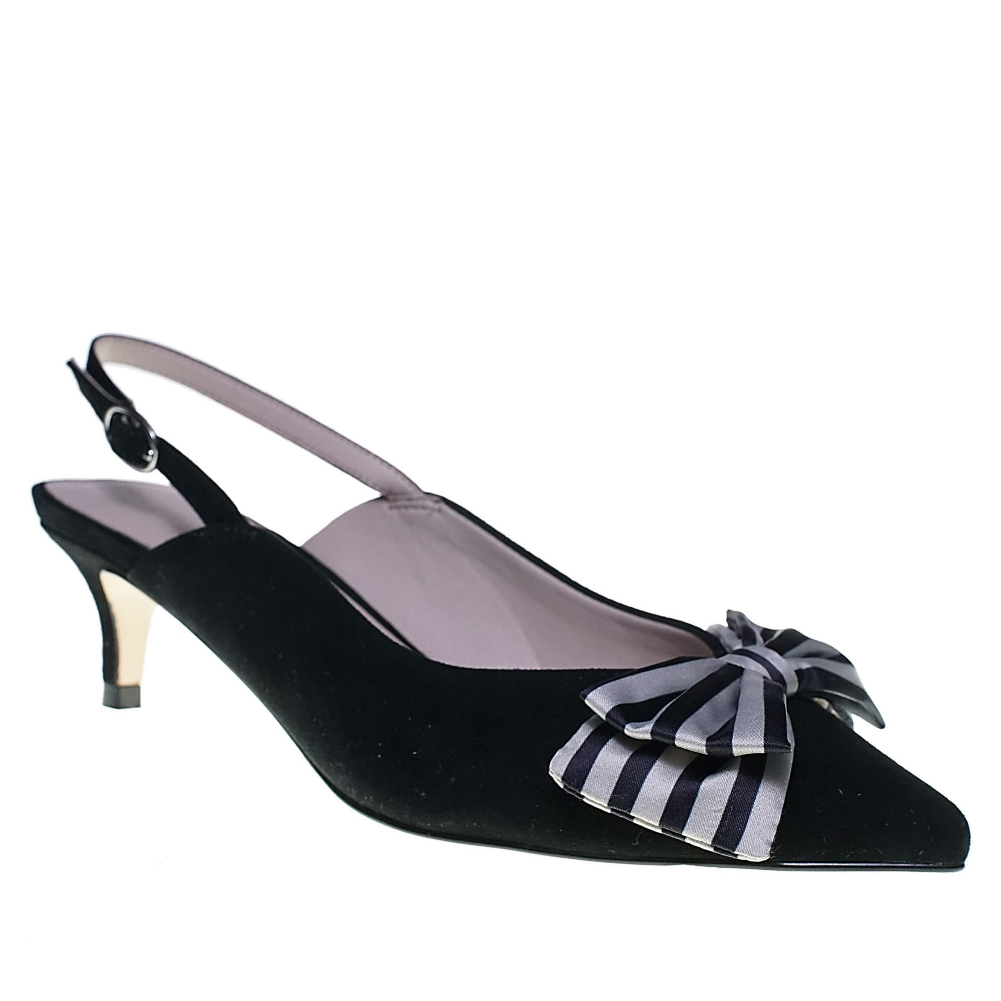 Black velvet slingback pump with bow from Cupcakes and Cashmere shoe collection at Nordstrom