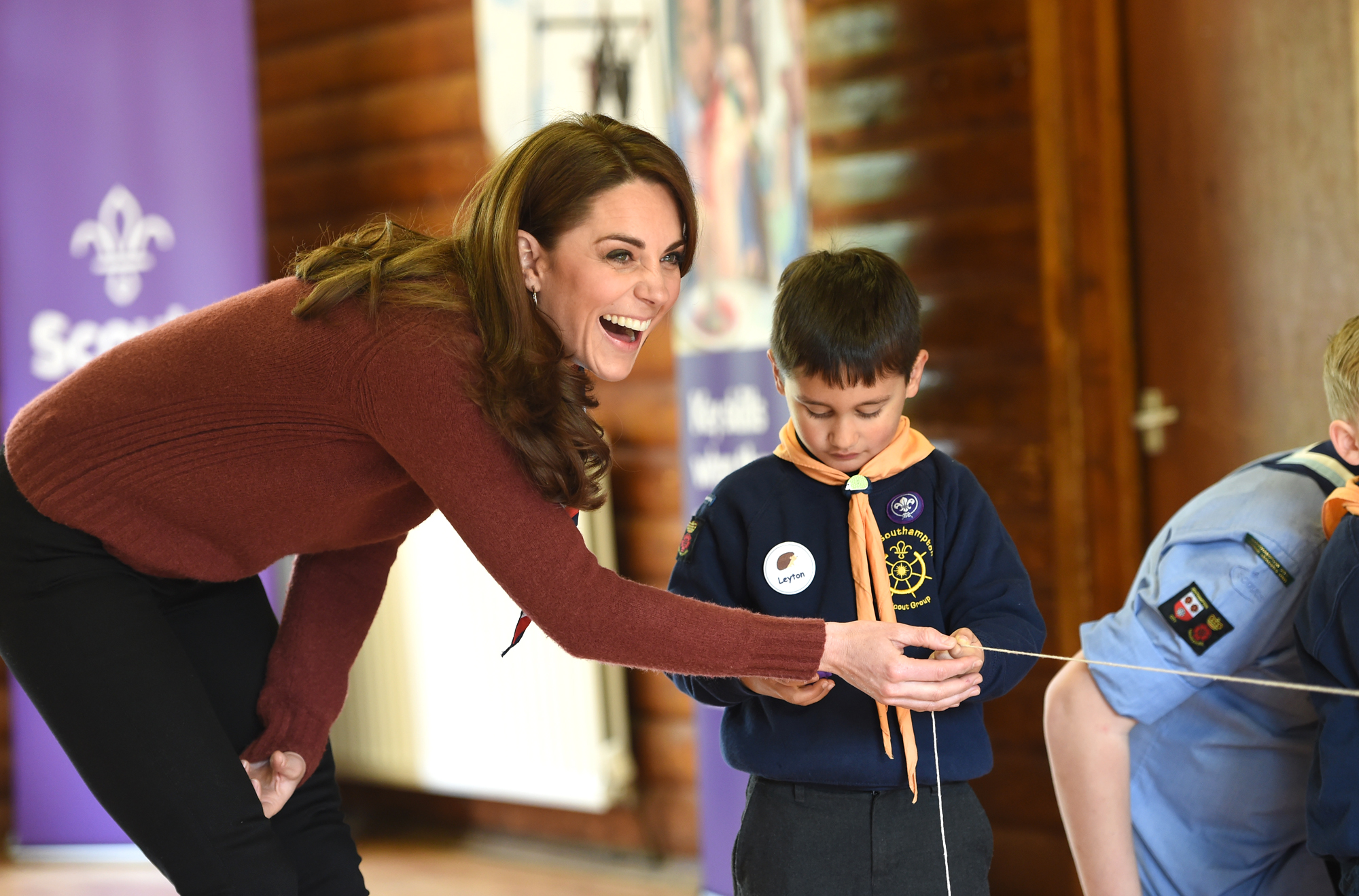 The Duchess Of Cambridge Visits The Scout's Early Years Pilot At Gilwell Park