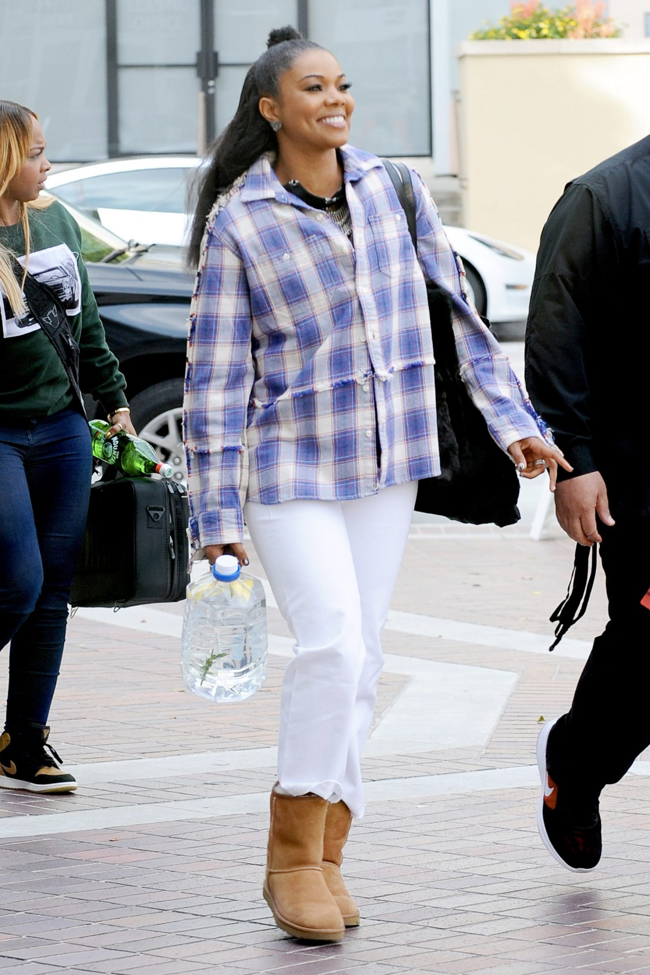 EXCLUSIVE: Gabrielle Union and Simon Cowell arriving at the 'America's Got Talent' Auditions in Pasadena, California.