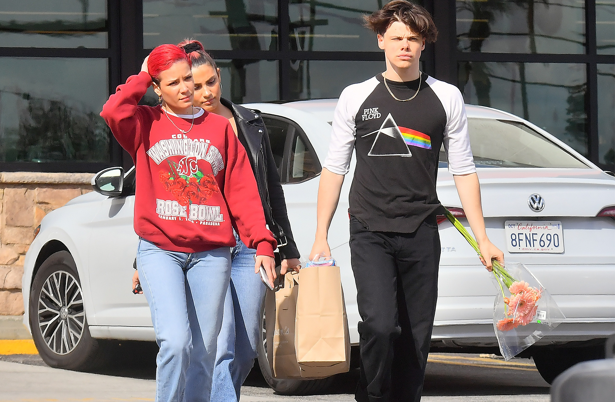 EXCLUSIVE: Halsey and her boyfriend Yungblud show off their domestic side as they head out on a grocery run