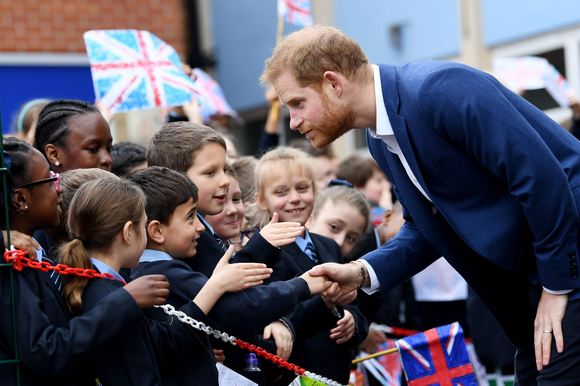 Prince Harry visits St Vincent's Catholic Primary School for Commonwealth Canopy and Woodland Trust Tree Planting ceremony, London, UK - 20 Mar 2019