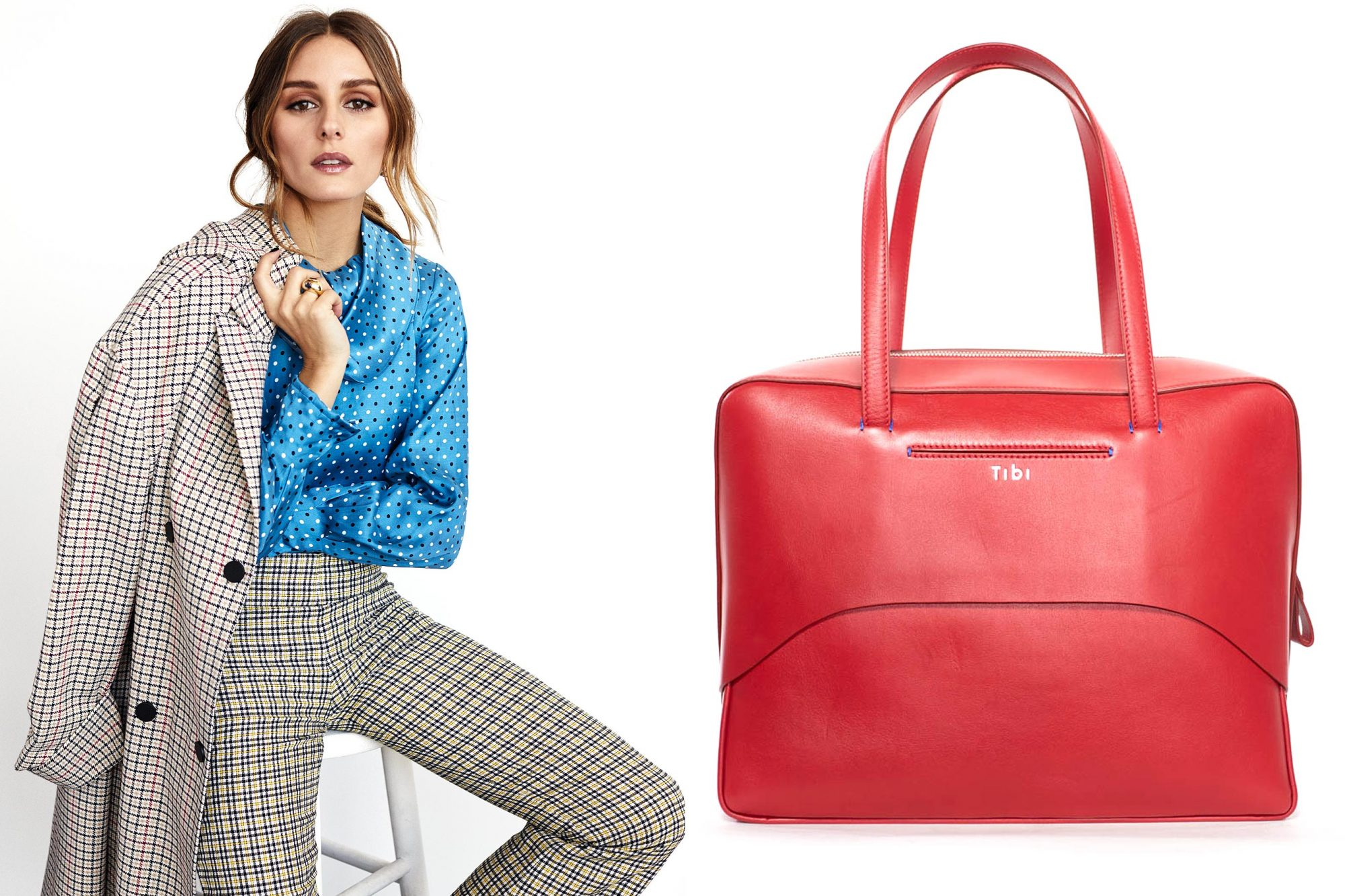 Olivia Palermo and red bag for dress for success