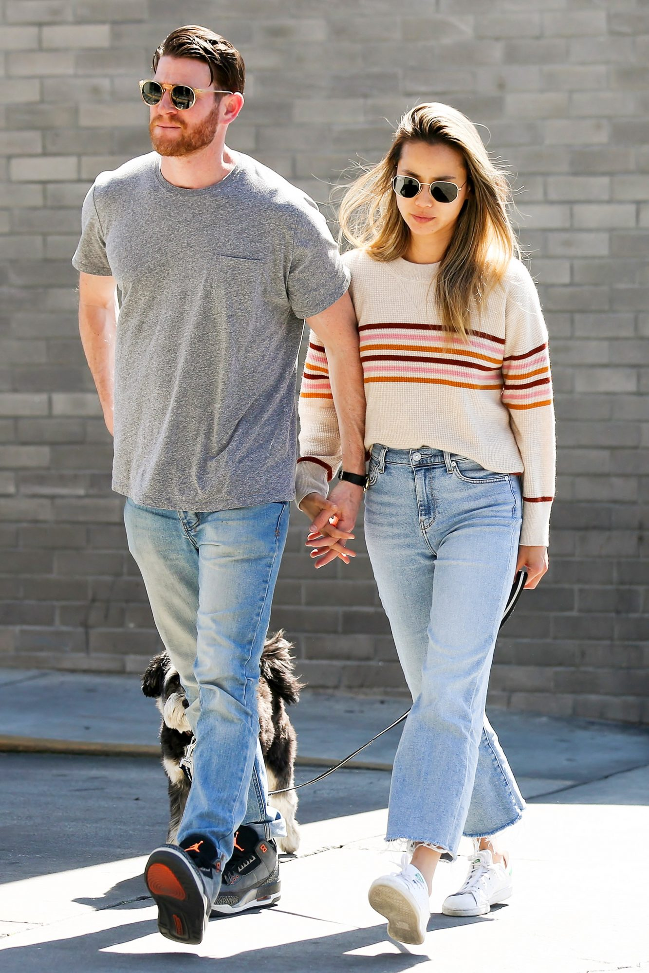 EXCLUSIVE: Jamie Chung And Bryan Greenberg Holding Hands Whilst Walking Their Dog