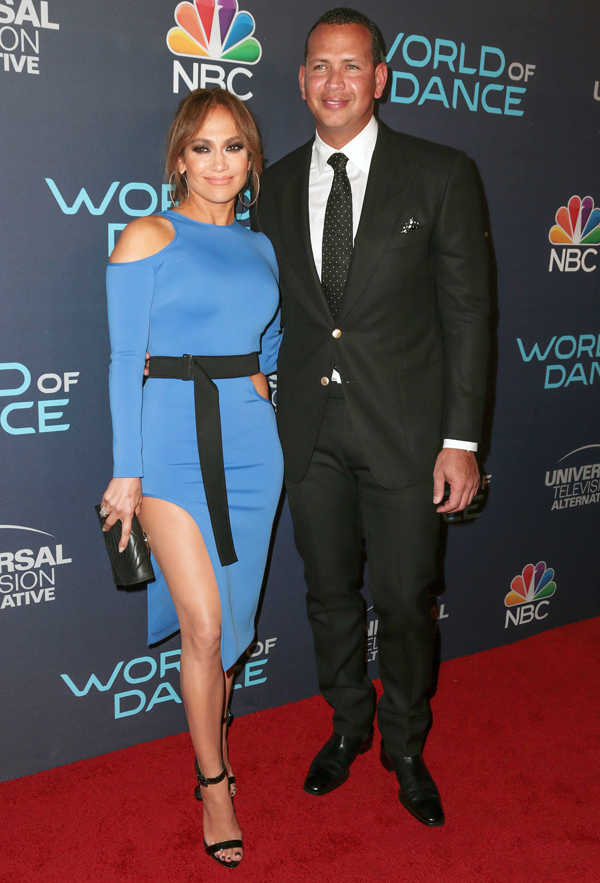 Jennifer Lopez and Alex Rodriguez arrive to World of Dance Event in Hollywood