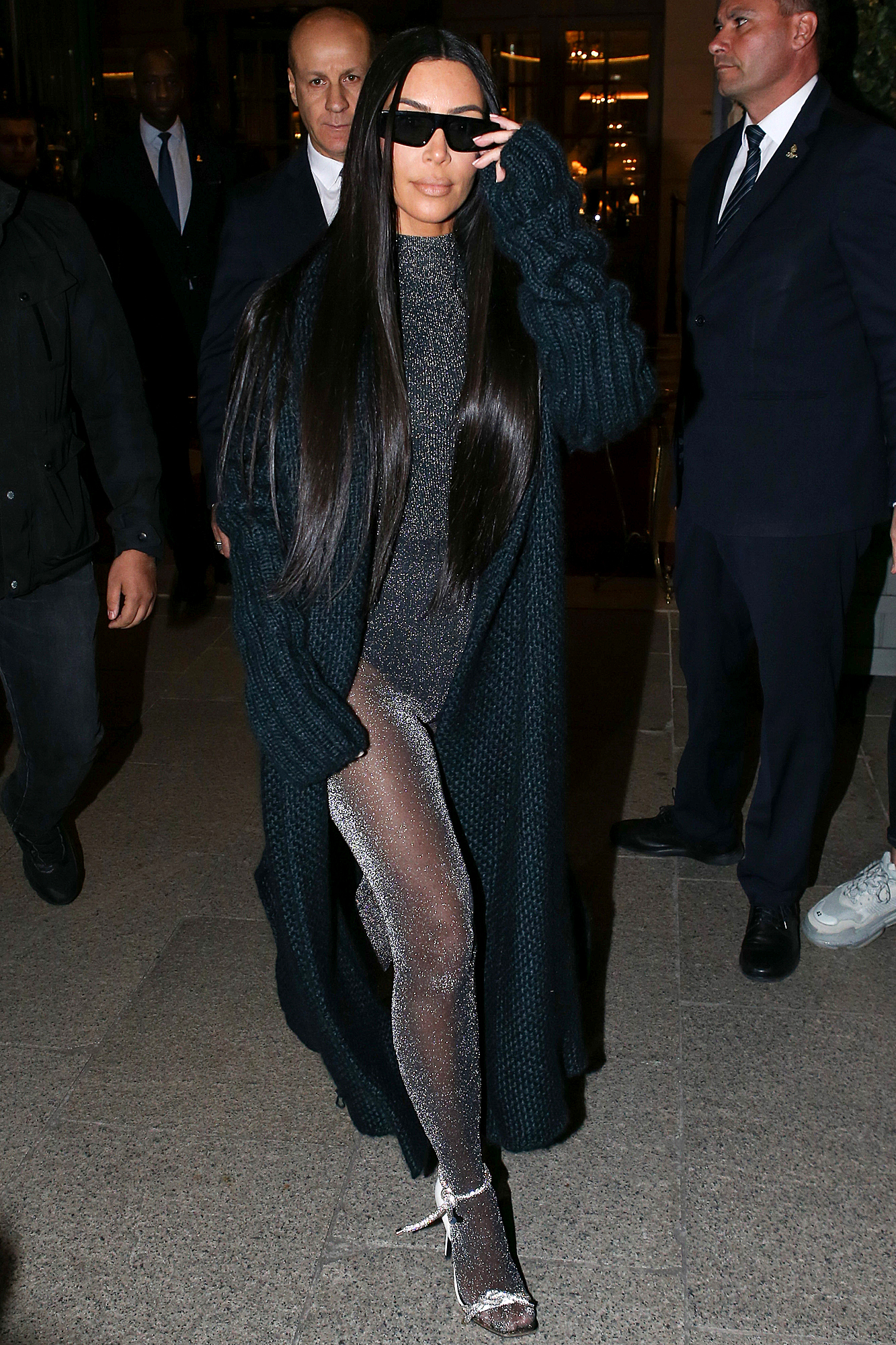 Kim Kardashian is Spotted Exiting The Ritz Hotel in Paris