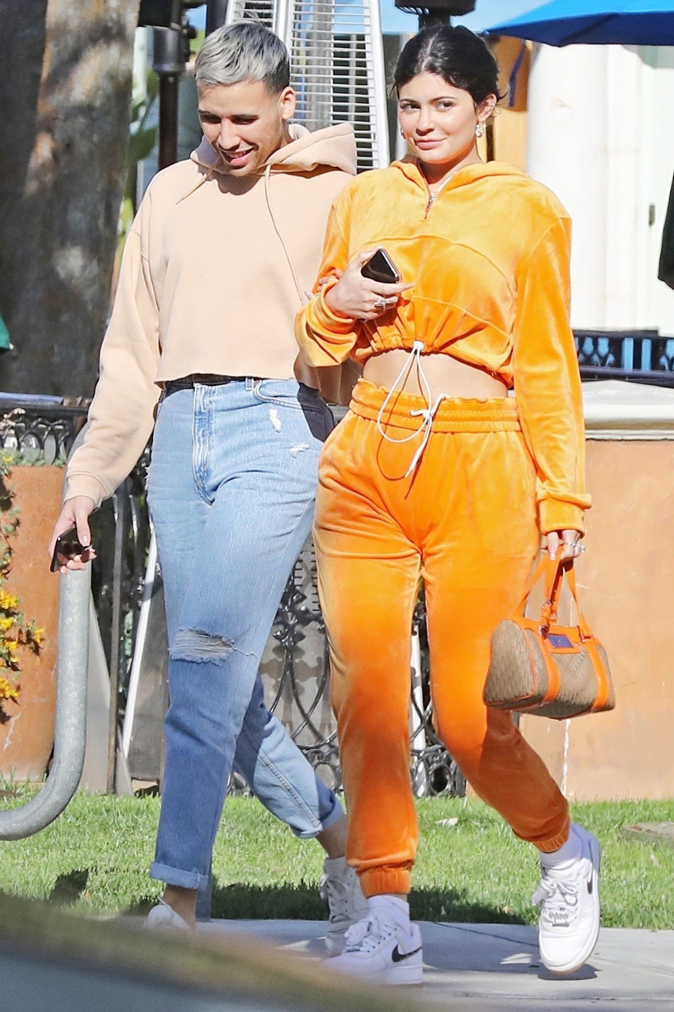 *EXCLUSIVE* Kylie Jenner has lunch with a friend at Sugar Fish