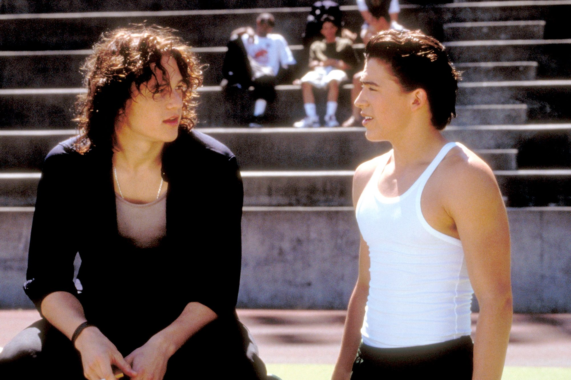 10 THINGS I HATE ABOUT YOU, from left: Heath Ledger, Andrew Keegan, 1999, © Buena Vista/courtesy Eve