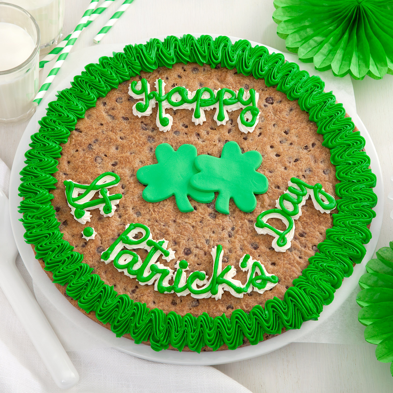 Mrs. Fields St. Patrick's Day Cookie Cake