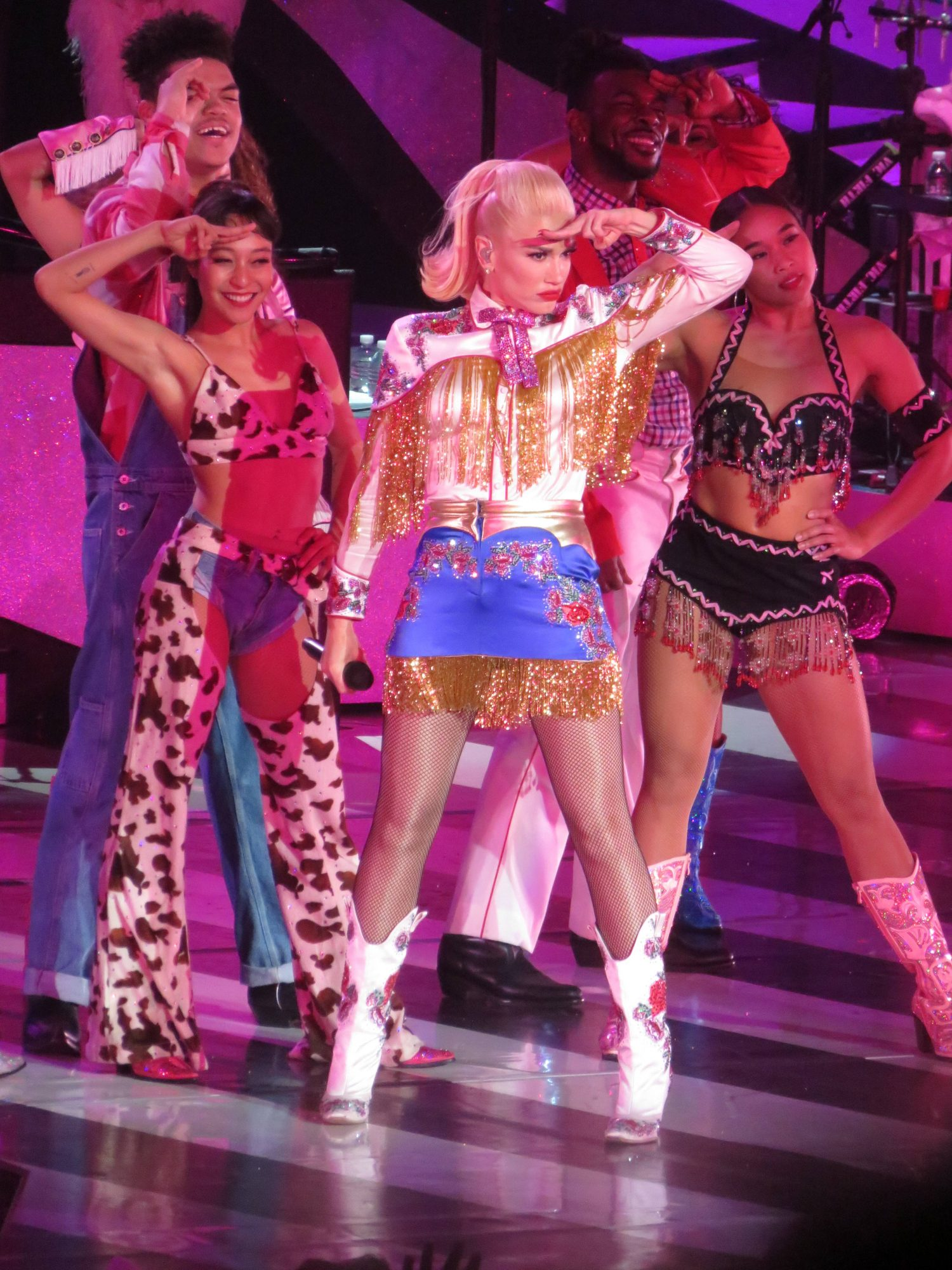 Gwen Stefani Dresses in Western Wear For Las Vegas Concert