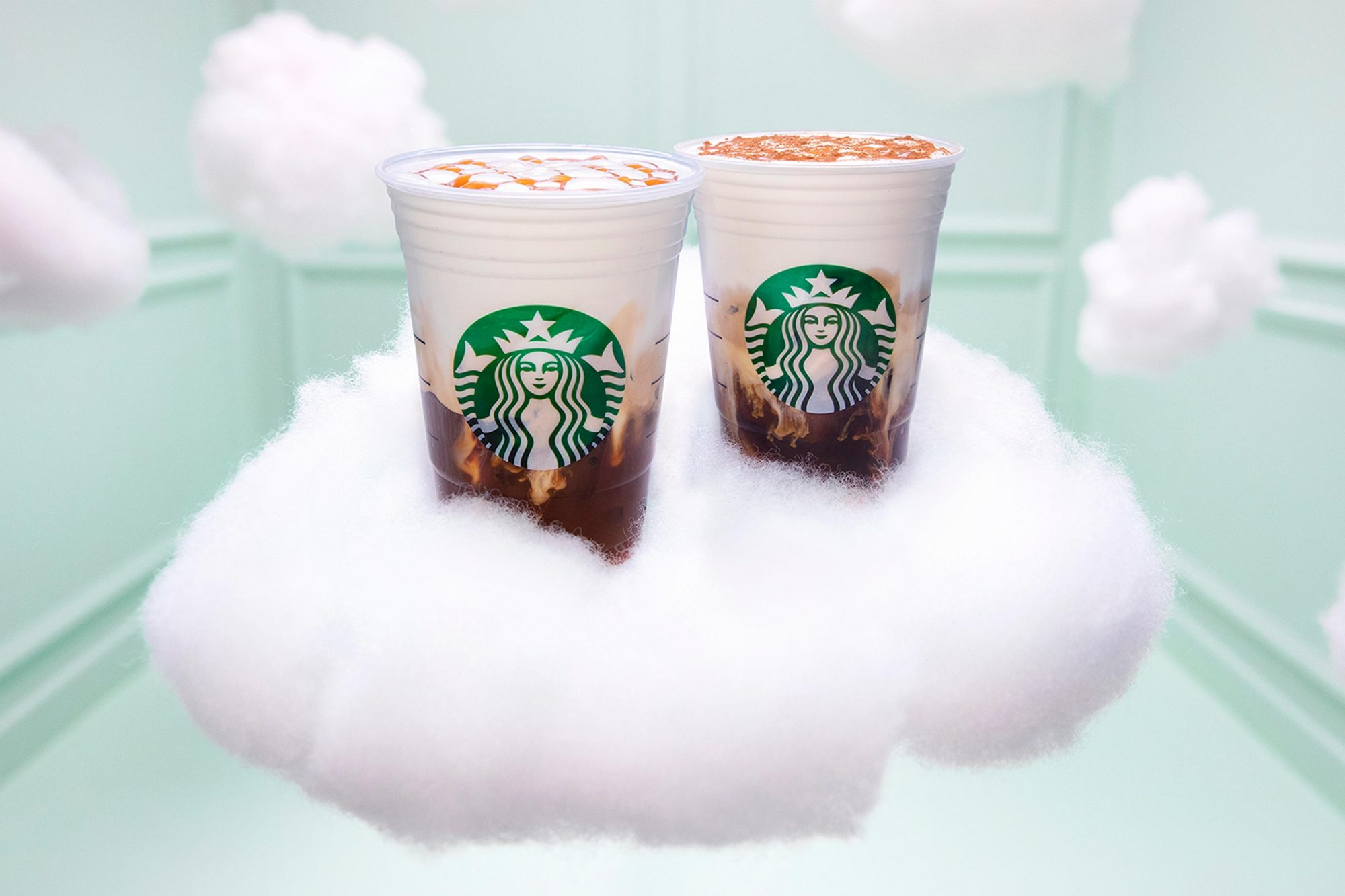 Starbucks new menu itemsiced cloud macchiato