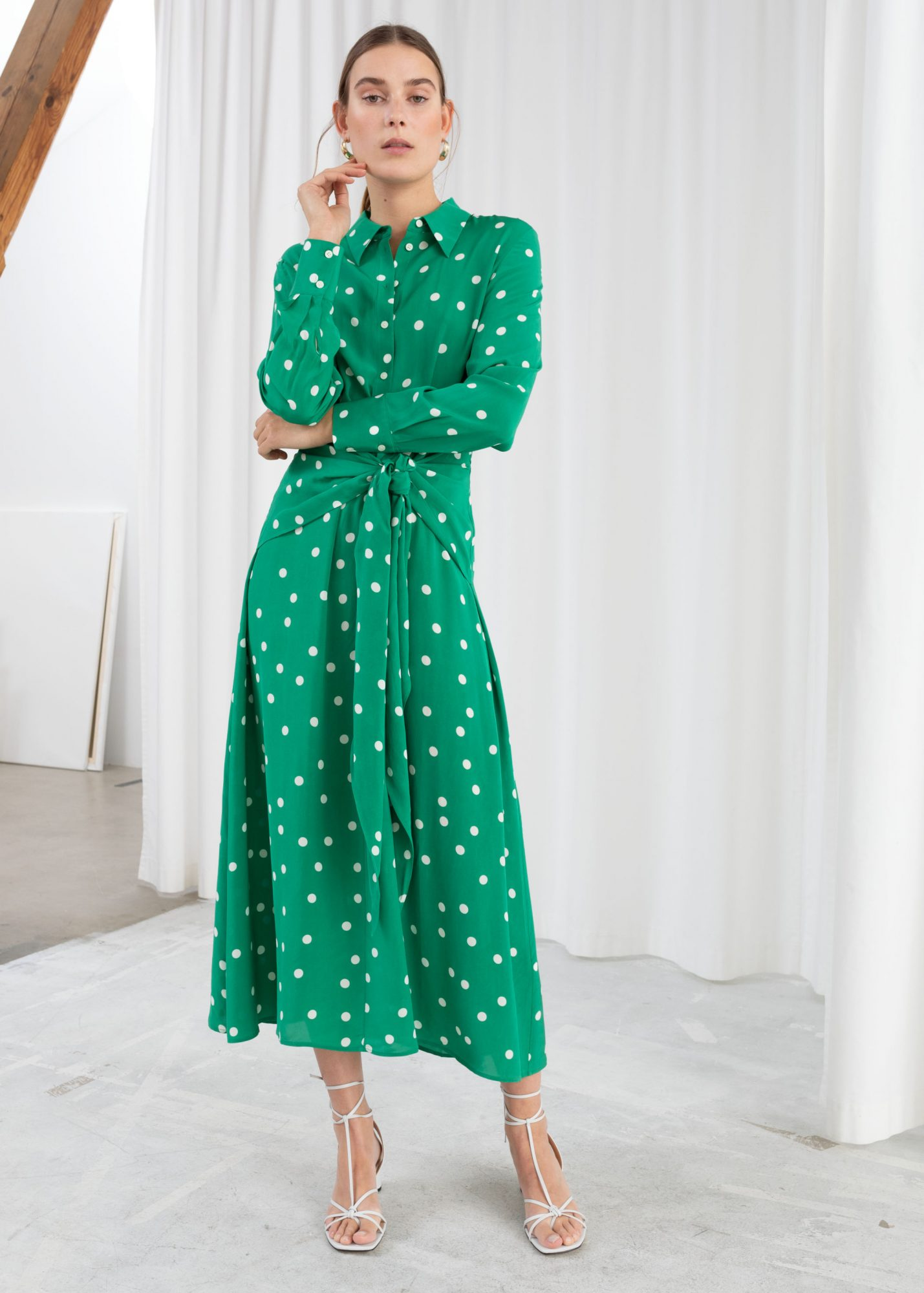 stories polka dot dress