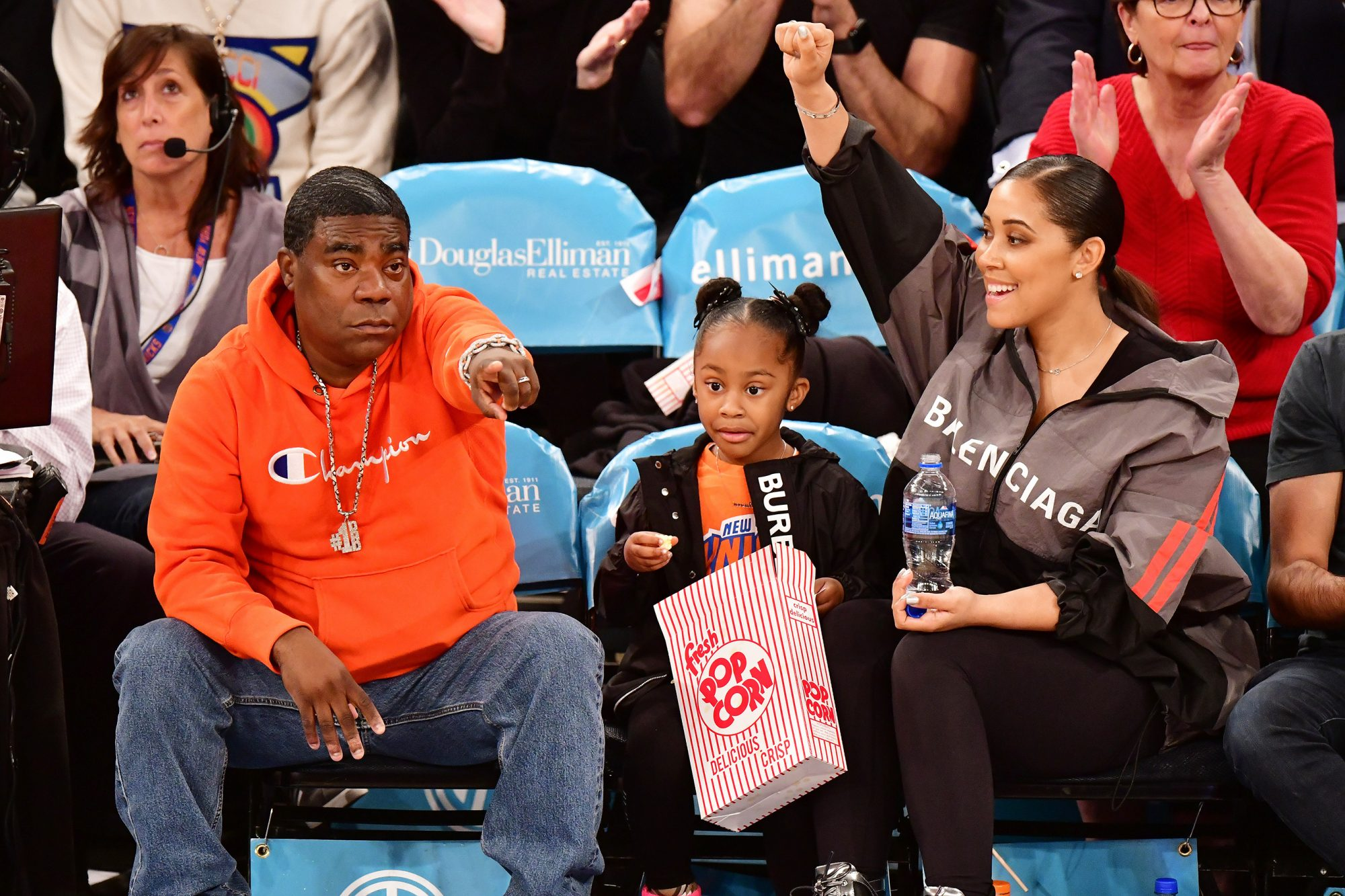 Celebrities Attend Los Angeles Clippers v New York Knicks