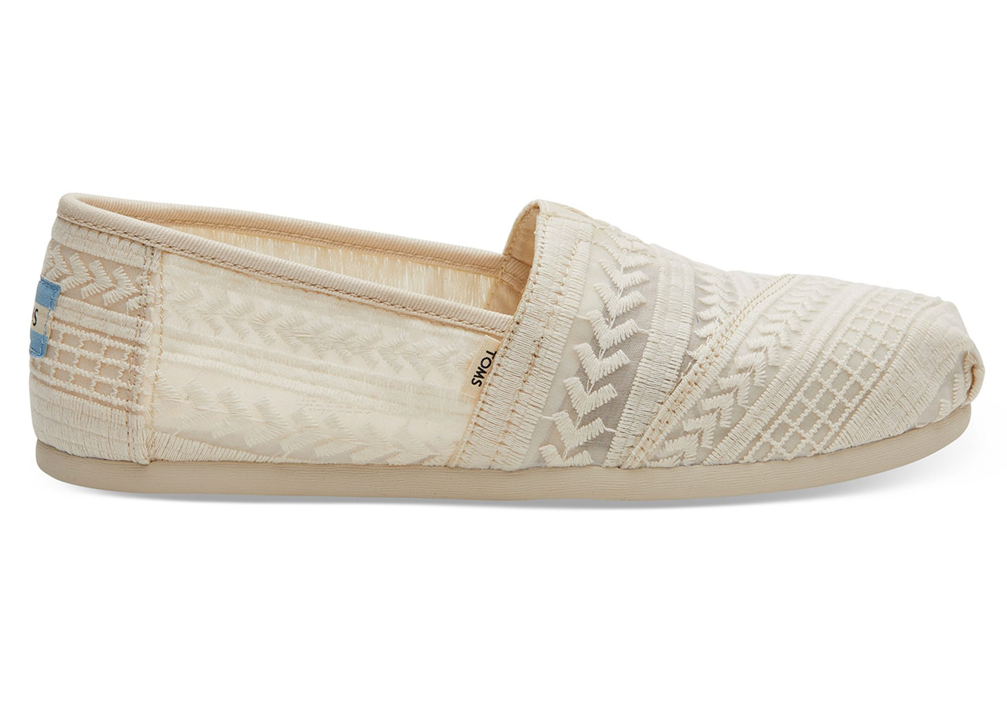 Toms Natural Arrow Embroidered Mesh Women's Classics