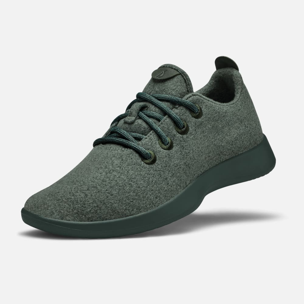 Dark green sneakers from Allbirds