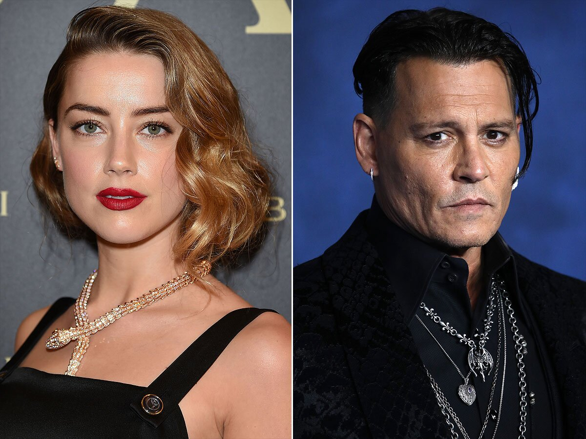 Johnny Depp Says Ex Wife Amber Heard Had Lsquo Agenda Rsquo In Marrying Him People Com