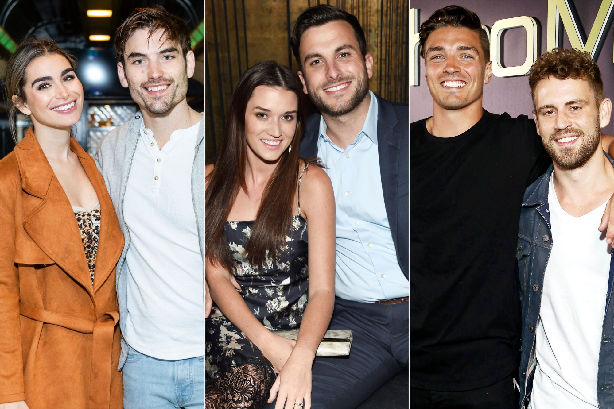 Dean Unglert and Nick Viall Jade Roper and Tanner Tolbert Ashley Iaconetti, Jared Haibon