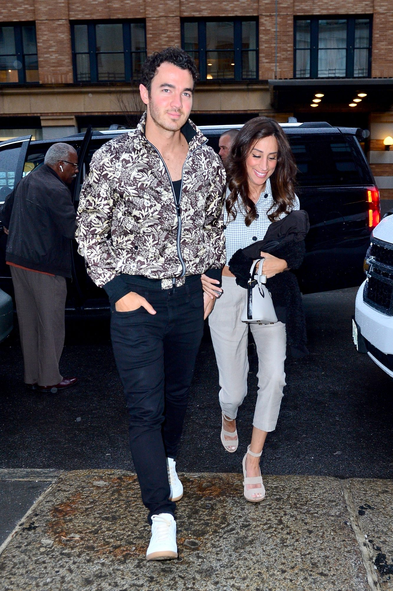 Kevin Jonas and Danielle Jonas step out for dinner with his brothers at Mr. Chow