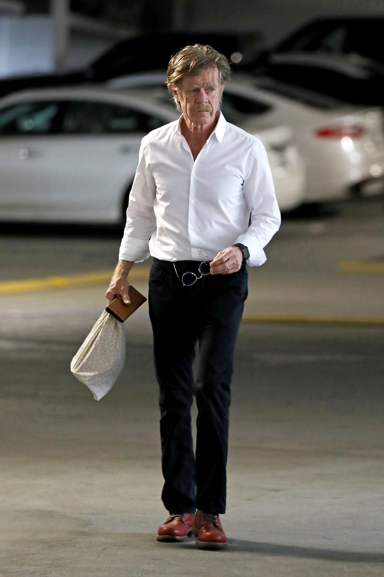 William H Macy seen for the first time after Felicity Huffman pleaded guilty in the college cheating scandal