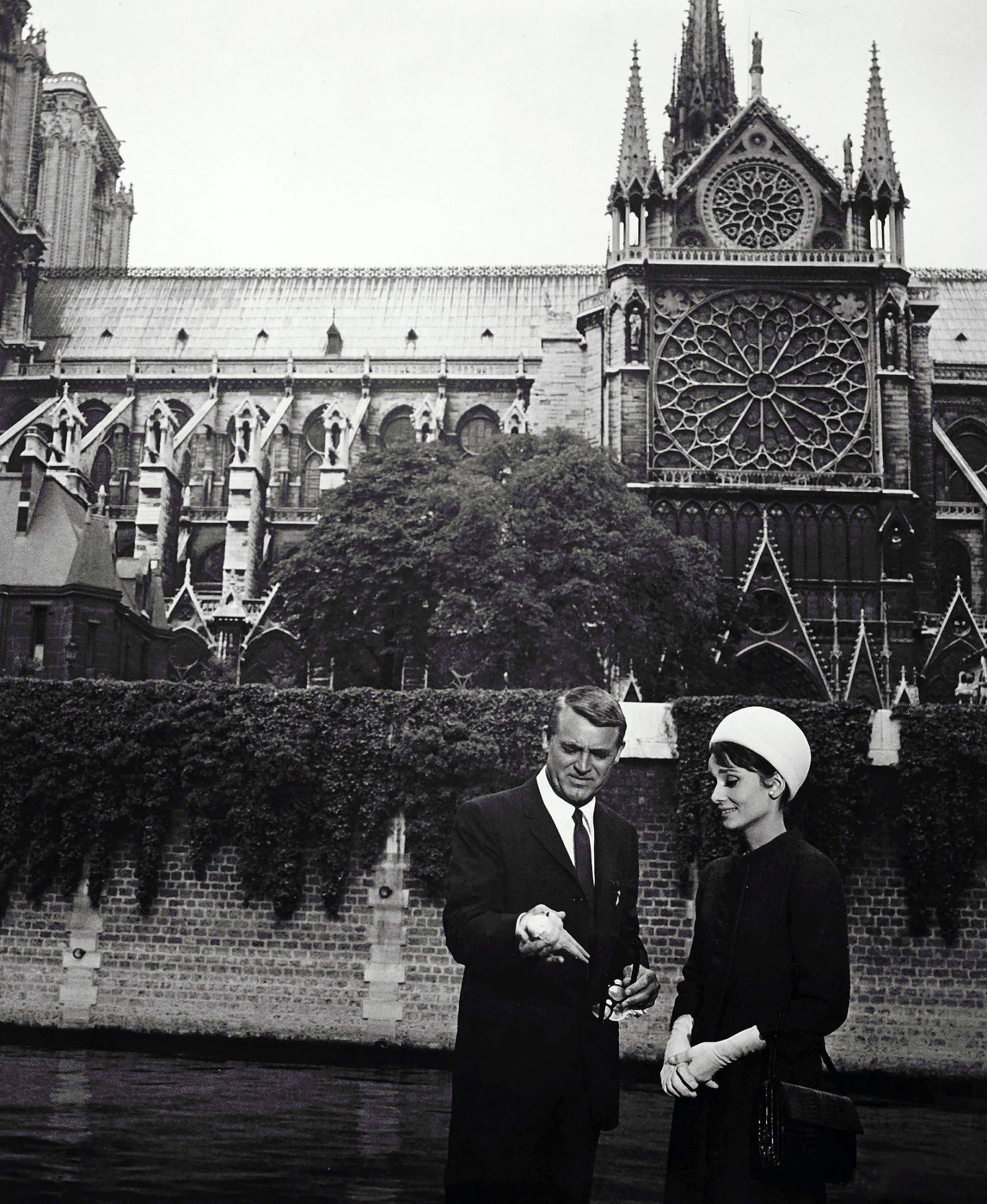 Charade, Cary Grant, Audrey Hepburn, Notre Dame