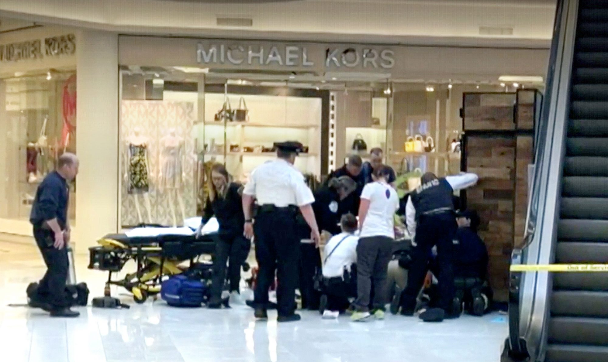 A child was reportedly thrown from a balcony at the Mall of America, and one person has been taken into custody.