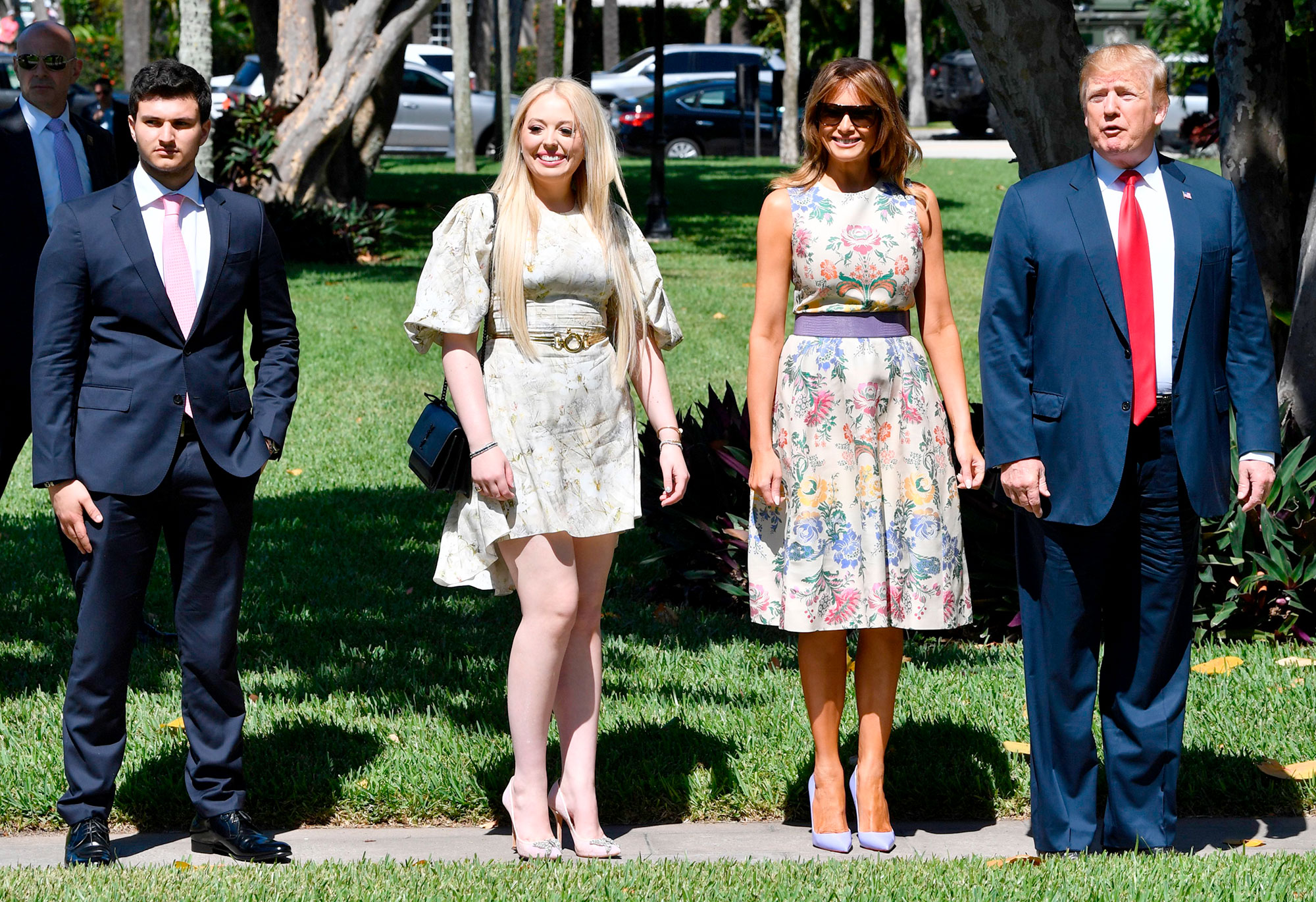 US President Donald Trump, First Lady Melania Trump, his daughter Tiffany Trump