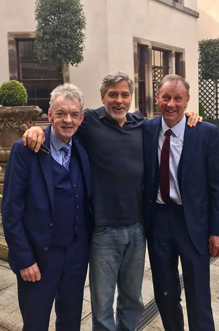 Andy Ring, George and Seamus Clooney, Balyfin House, County Laois.