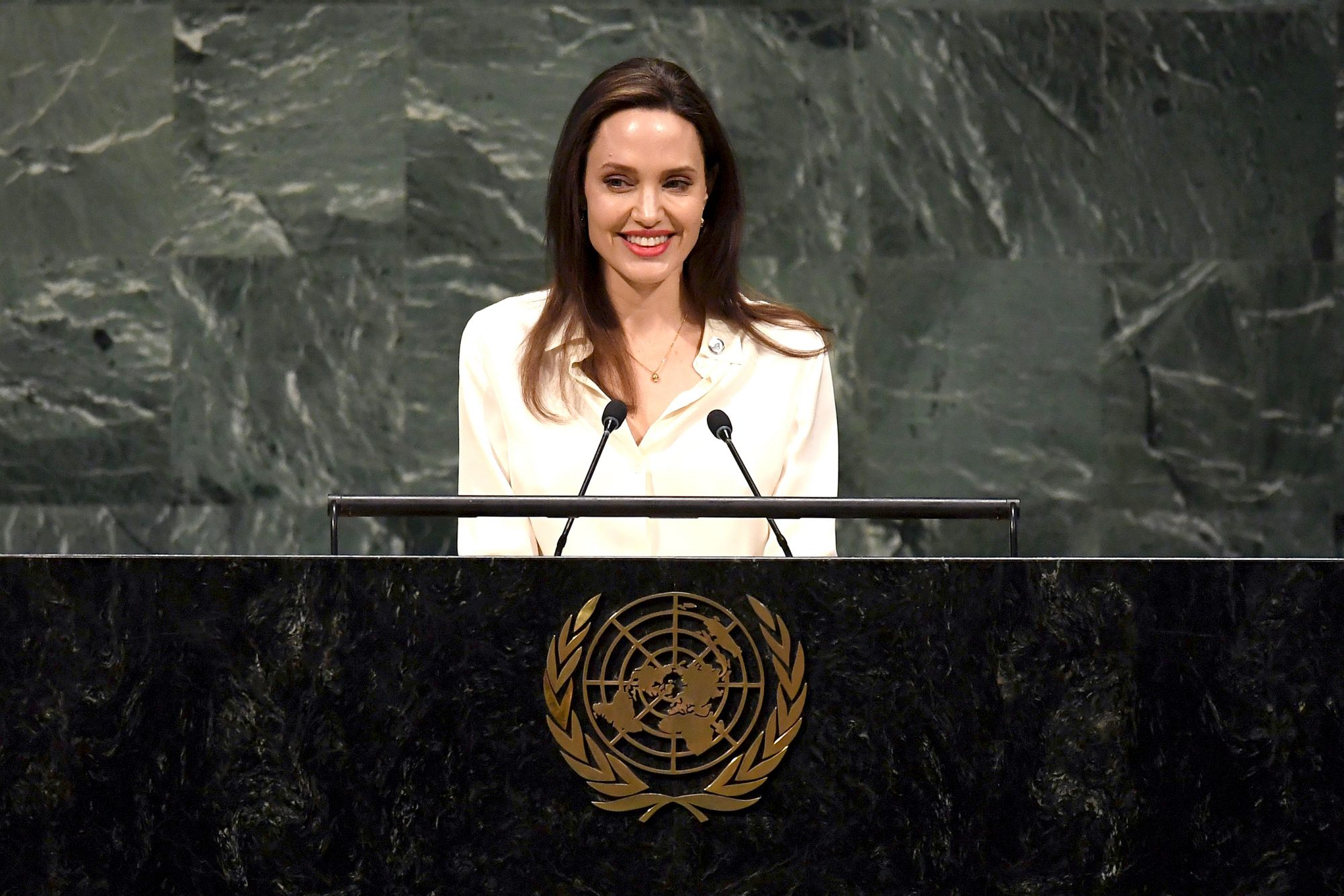 Angelina Jolie addresses the UN about army conflict