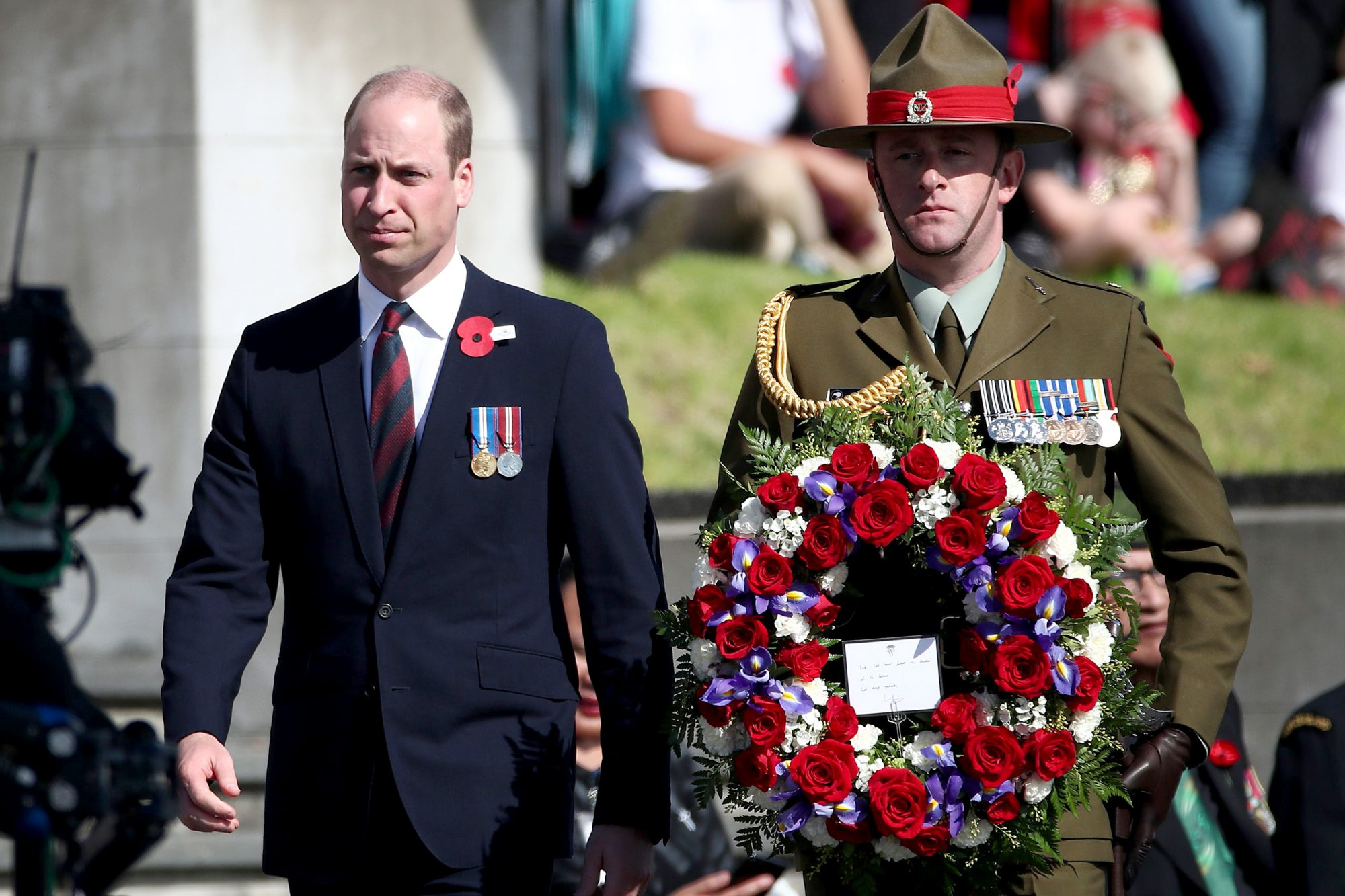 Prince William attends the Anzac Day