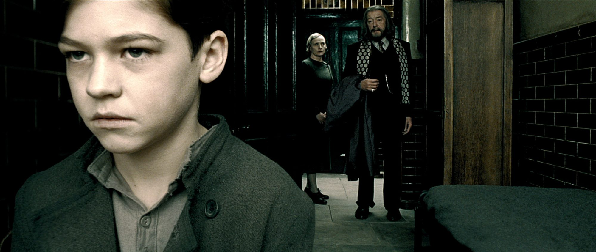 HARRY POTTER AND THE HALF-BLOOD PRINCE, from left: Hero Fiennes-Tiffin, Amelda Brown, Michael Gambon