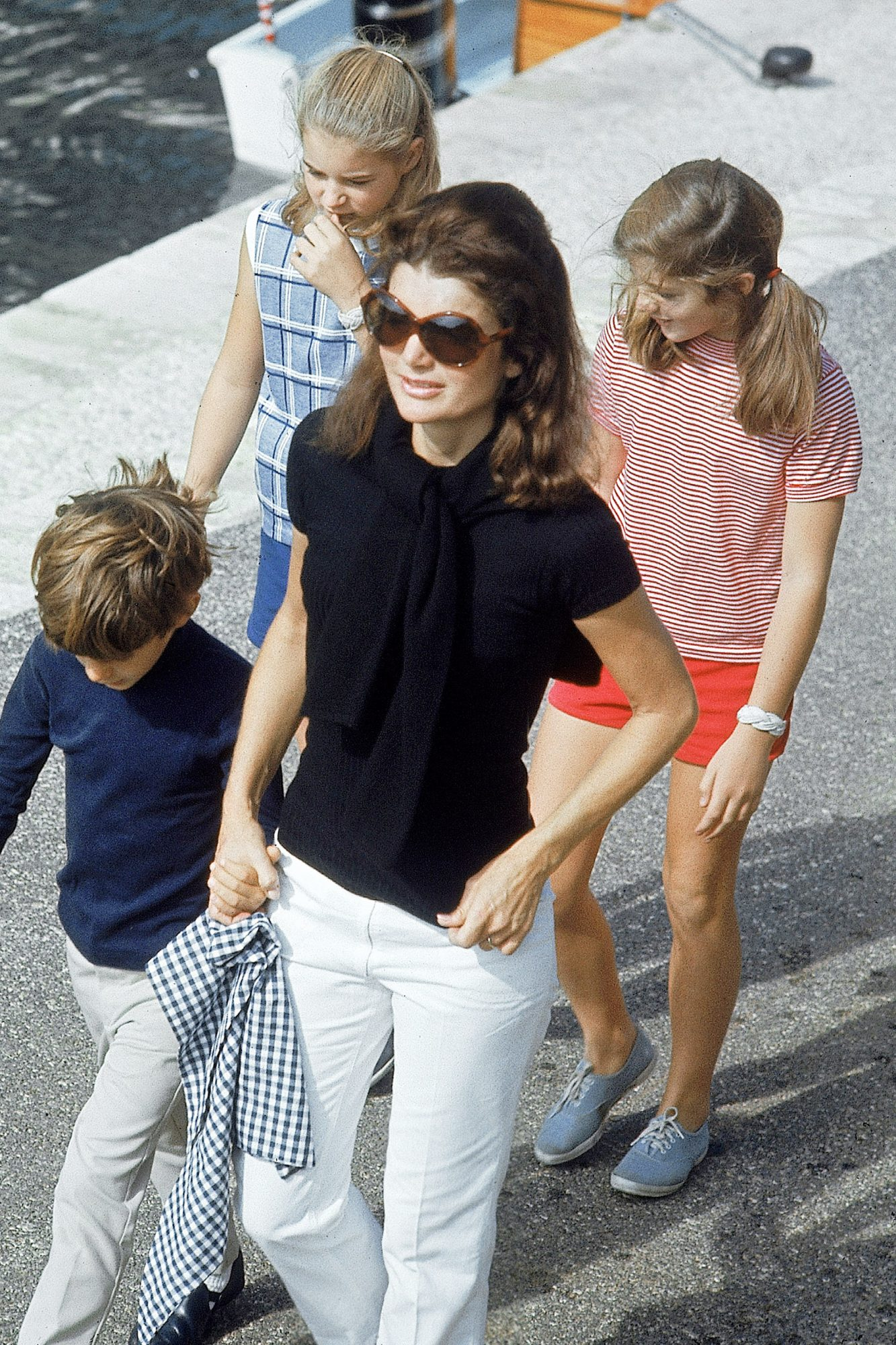 Jacqueline Kennedy Onassis And Her Children