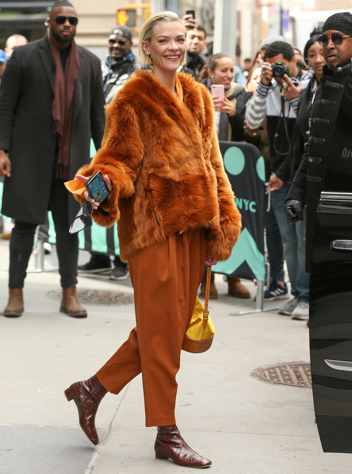Actress Jaime King leaves 'Build Series in New York City
