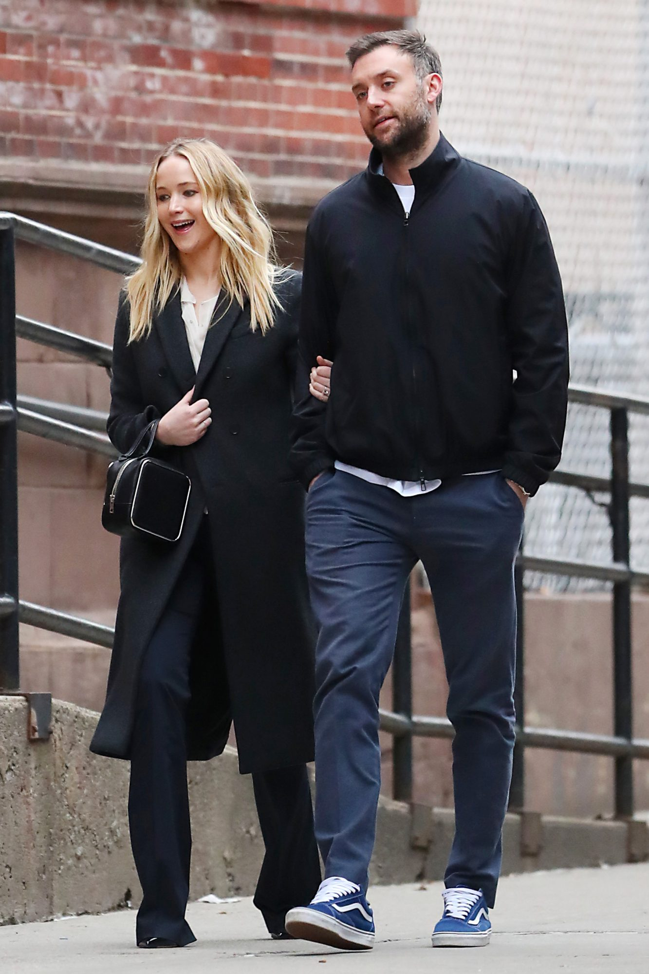 EXCLUSIVE: Jennifer Lawrence and Cooke Maroney Head out on a Date in New York City.